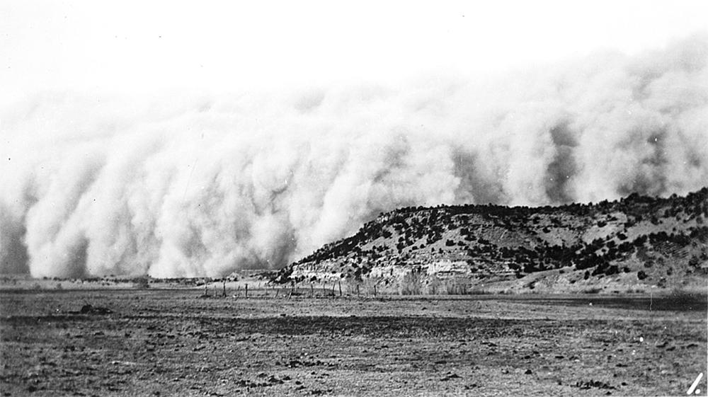 Baca County, Colorado. April 14, 1935. Dust storm. Colorado (J.H. Ward/Library of Congress/LC-USZ62-47982)