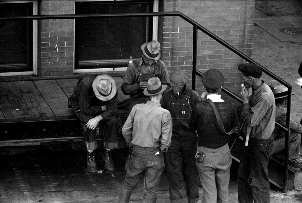 Sheep handler, stockyards, Denver, Colorado, Oct. 1939. (Arthur Rothstein/Library of Congress/LC-USF33-003414)
