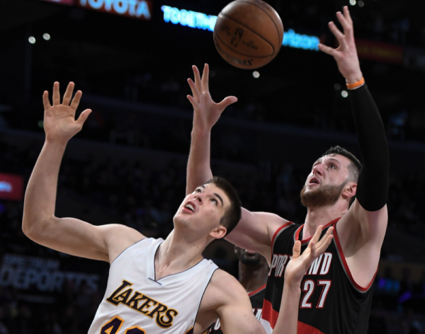 The Nuggets face Jusuf Nurkic for the first time since they traded him tonight in Portland. (Robert Hanashiro/USA Today Sports)