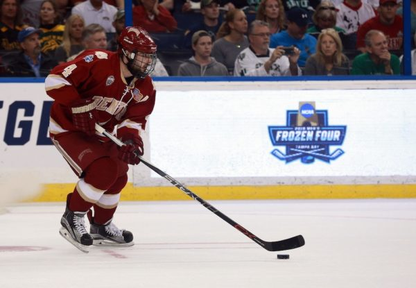 Will Butcher is up for the Hobey. (Kim Klement/USA Today Sports)