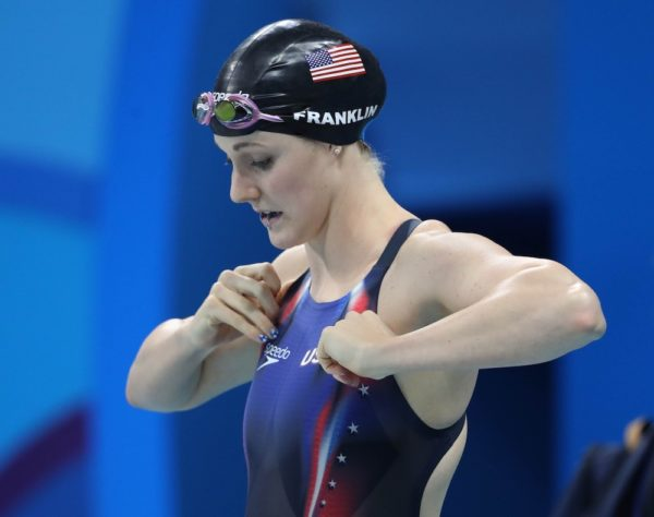Missy Franklin announced Wednesday that she's taking time off from competitive swimming to recover from shoulder surgeries. (Erich Schlegel/USA Today Sports)
