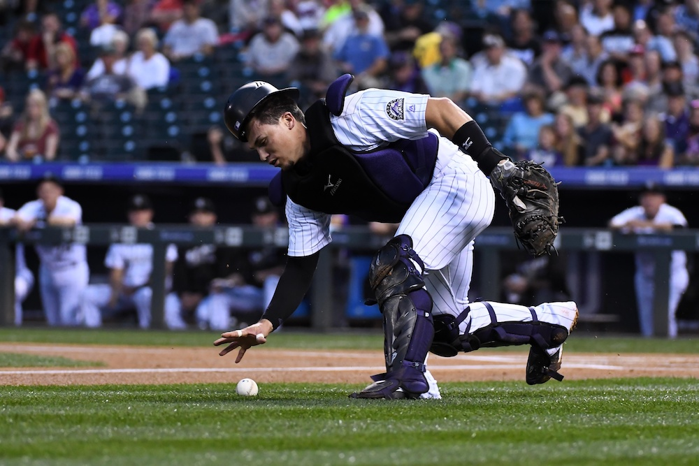 Tony Wolters made the Rockies' roster last year as a dark-horse candidate. Now he's vying to be the opening day starting catcher.  (Joc Pederson/USA Today Sports)