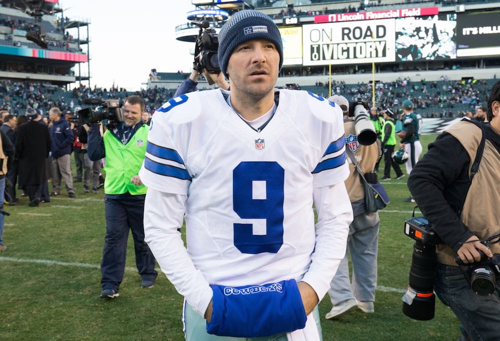 The Tony Romo situation doesn't sound like it's close to being resolved. (Bill Streicher/USA Today Sports)
