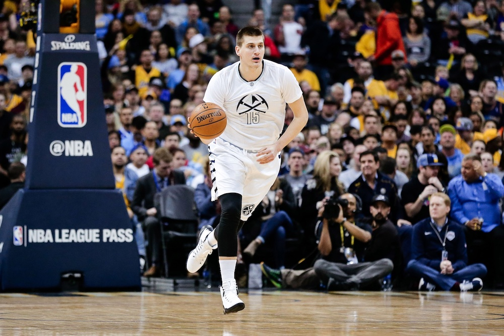 Nikola Jokic added another ridiculous assist to his highlight reel this week. (Isaiah J. Downing/USA Today Sports)