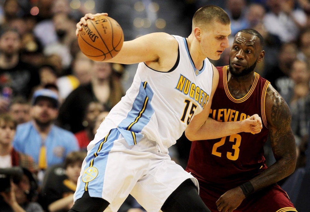Nikola Jokic scored 16 points in Denver's win over Cleveland on Wednesday. (Chris Humphreys/USA Today Sports)
