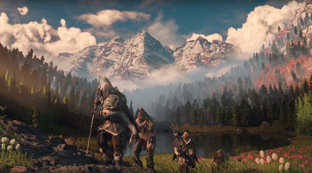 Finally, Maroon Bells without the crowds, as portrayed in Horizon: Zero Dawn. (Sony Computer Entertainment)