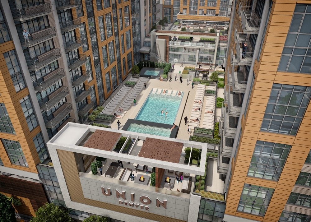 Luxury apartment complex Union Denver anchored by Whole Foods Market. (Courtesy of Holland Partner Group)