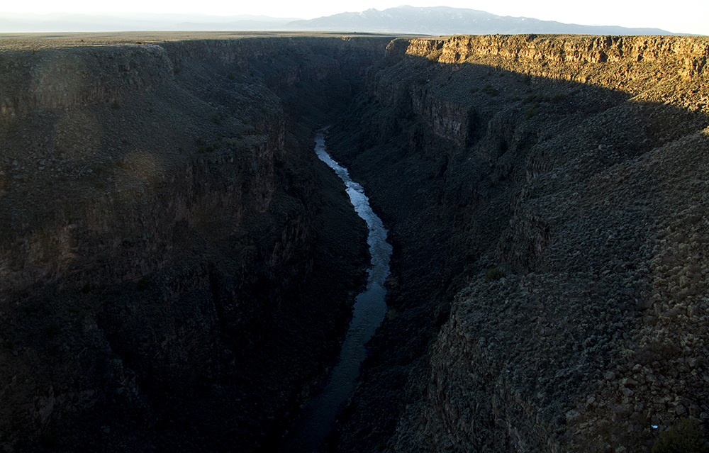 The Rio Grande seen from the Rio Grande Gorge Bridge. (Kevin J. Beaty)  new mexico; road trip; travel; kevinjbeaty; denverite;