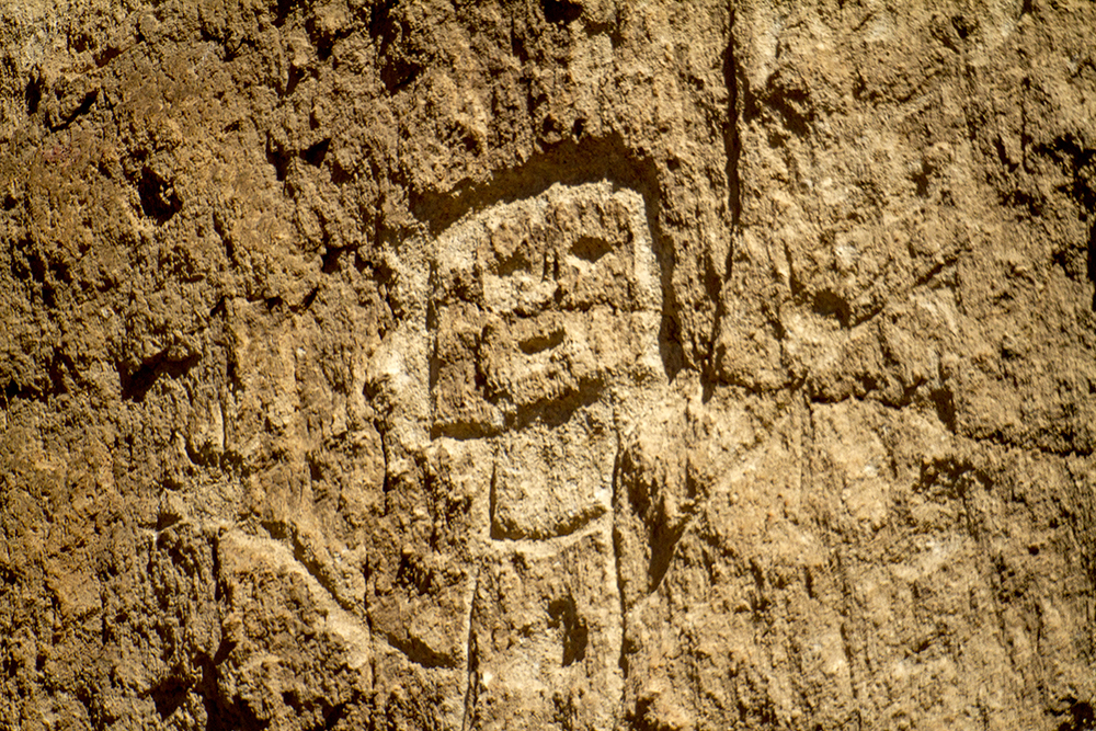 A pictograph on the cliff face at Bandelier National Monument. (Kevin J. Beaty)  new mexico; road trip; travel; kevinjbeaty; denverite;