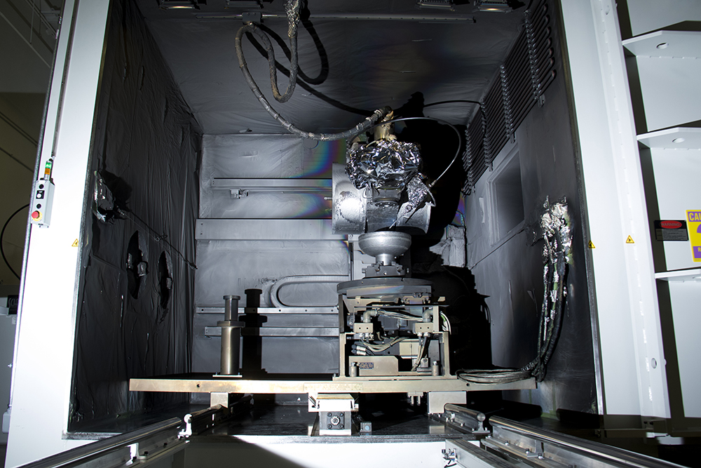 Lockheed Martin's titanium welding 3D printer. Media day, April 3, 2017. (Kevin J. Beaty/Denverite)  lockheed martin; aerospace; science; astronaut; inventions; kevinjbeaty; tech; denver; colorado; denverite;