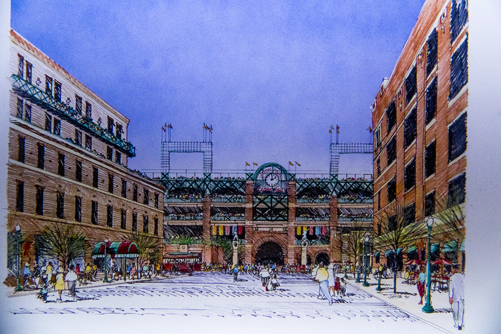 "These drawings of ""Union Park"" from 1990 look familiar. (Denver Public Library/Western Hisory Collection/Karle Seydel Papers)  baseball; coors field; sports; denver; colorado; denverite; denver public library;"