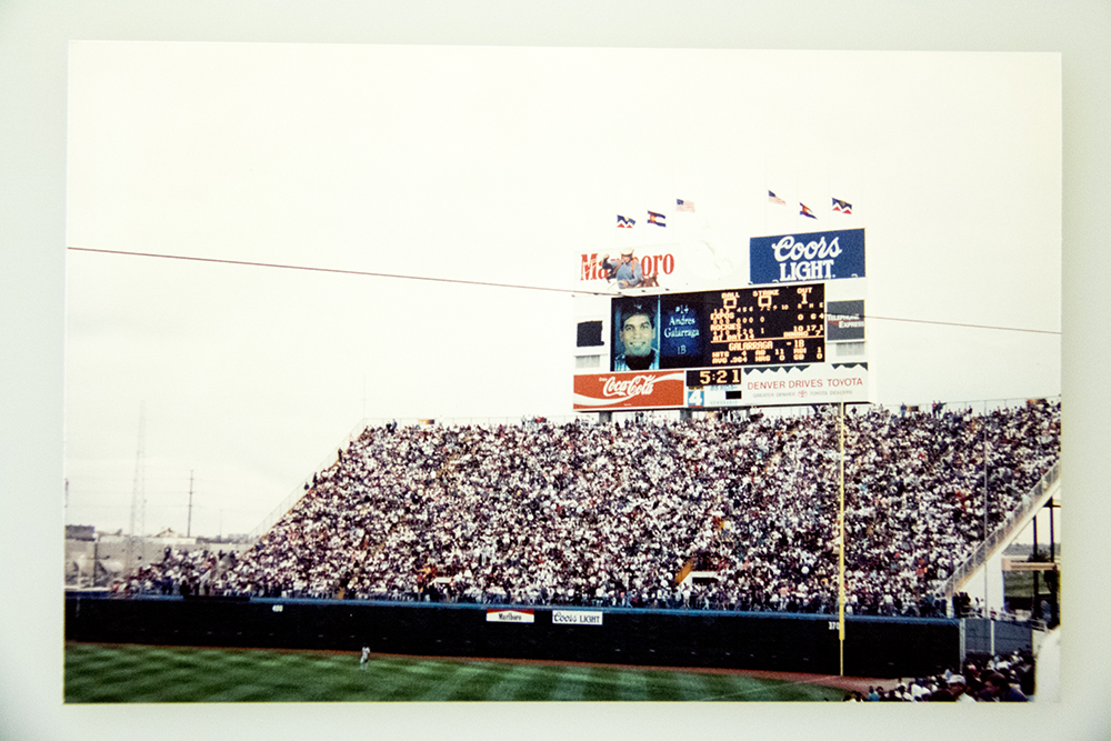 Opening day, April 26, 1995, was packed with fans. (Denver Public Library/Western Hisory Collection/Karle Seydel Papers)  baseball; coors field; sports; denver; colorado; denverite; denver public library;