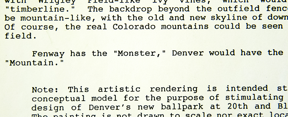"""Fenway has the ""Monster."" (Denver Public Library/Western Hisory Collection/Karle Seydel Papers)  baseball; coors field; sports; denver; colorado; denverite; denver public library;"