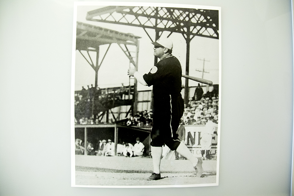 Babe Ruth himself swings at Merchants Park. (Denver Public Library/Western Hisory Collection/Karle Seydel Papers)  baseball; coors field; sports; denver; colorado; denverite; denver public library;