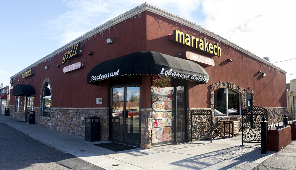 The Marrakech Cafe and Grill on Colorado Boulevard. (Kevin J. Beaty/Denverite)  middle eastern food; university hills; colorado boulevard; denver; colorado; kevinjbeaty; denverite