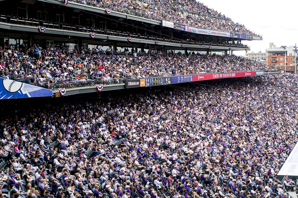 Coors Field opening day, April 7, 2017. (Kevin J. Beaty/Denverite)  rockies; ballpark; coors field; sports; baseball; opening day; denver; colorado; denverite; kevinjbeaty;