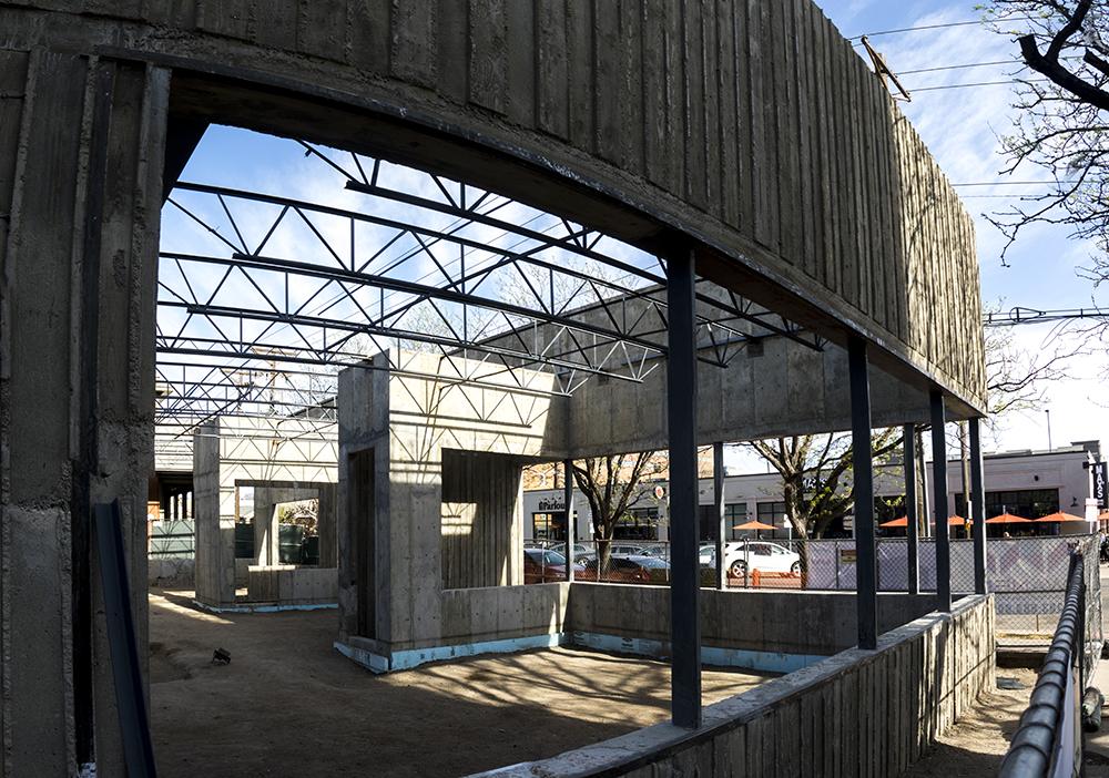 A building under construction at 215 E. 7th Avenue, April 18, 2017. (Kevin J. Beaty/Denverite)  denver; colorado; kevinjbeaty; denverite;