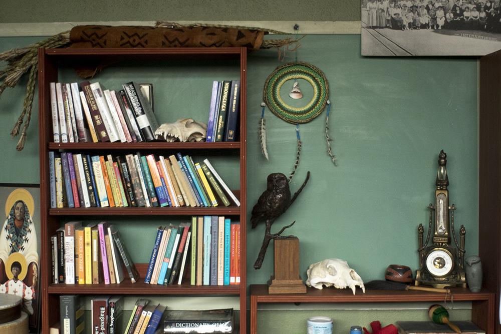 Books and bones. The Althea Center for Engaged Spirituality. (Kevin J. Beaty/Denverite)  althea center; church; cheesman park; denver; colorado; kevinjbeaty; denverite;