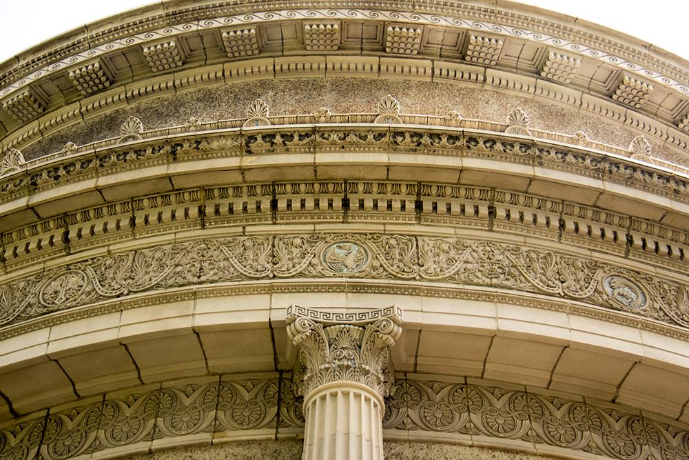 Ornate details on the Althea Center for Engaged Spirituality. (Kevin J. Beaty/Denverite)  althea center; church; cheesman park; denver; colorado; kevinjbeaty; denverite;