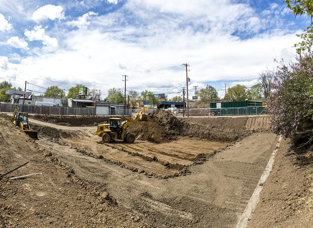 Construction at 1515 Julian St. (Kevin J. Beaty/Denverite)  construction; development; west colfax; kevinjbeaty; denver; colorado; denverite;