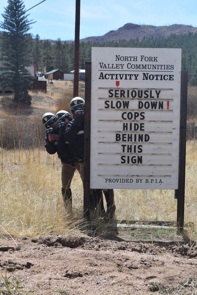 Jefferson County deputies making a funny. (Courtesy Jefferson County Sheriff's Office)