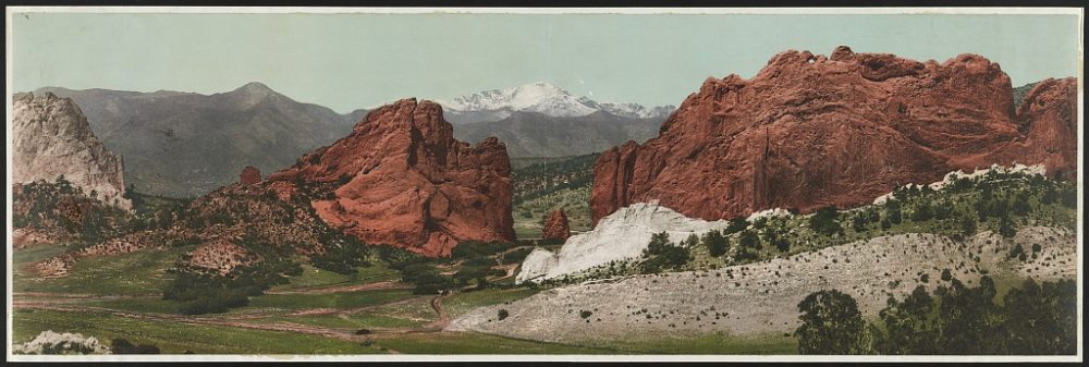Garden of the Gods in 1898. (William Henry Jackson, Library of Congress)