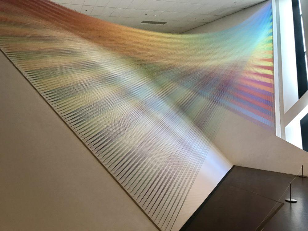 """Plexus No. 36"" by Gabriel Dawe in the ""Mi Tierra"" exhibit at the Denver Art Museum. (Ashley Dean/Denverite)"