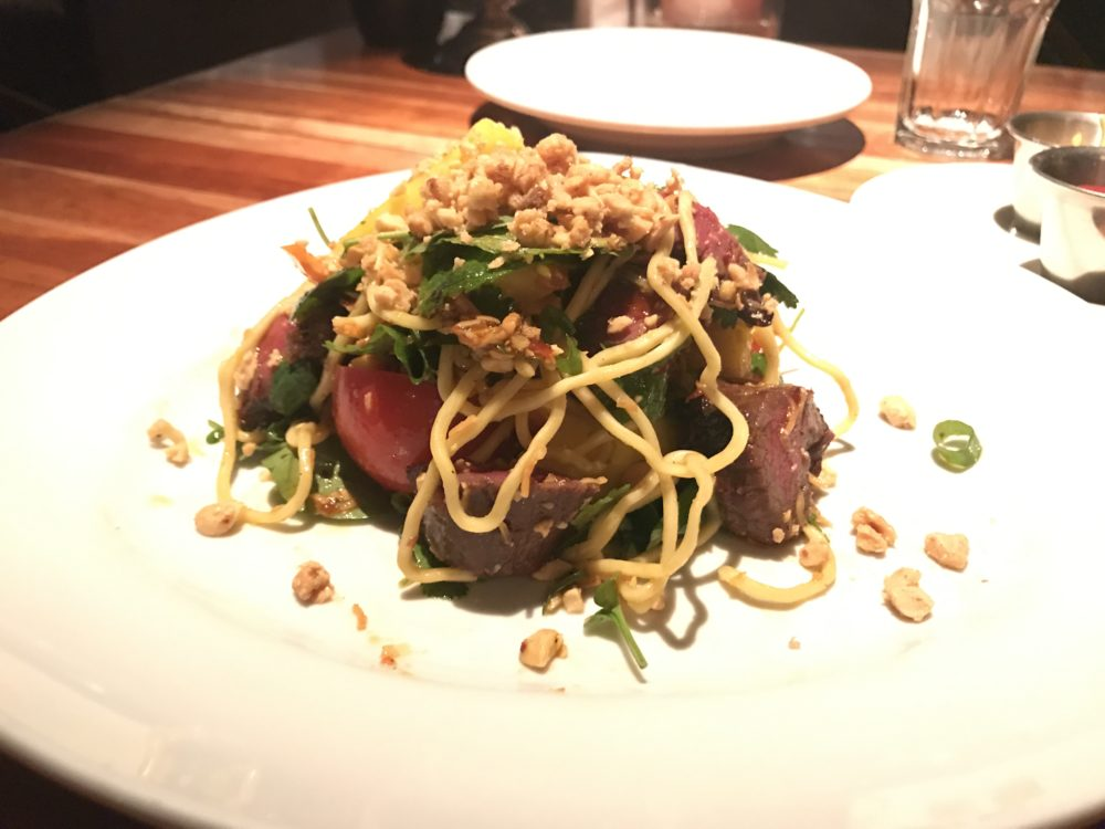 The thai steak and noodle salad at Hillstone, 303 Josephine St. (Ashley Dean/Denverite)