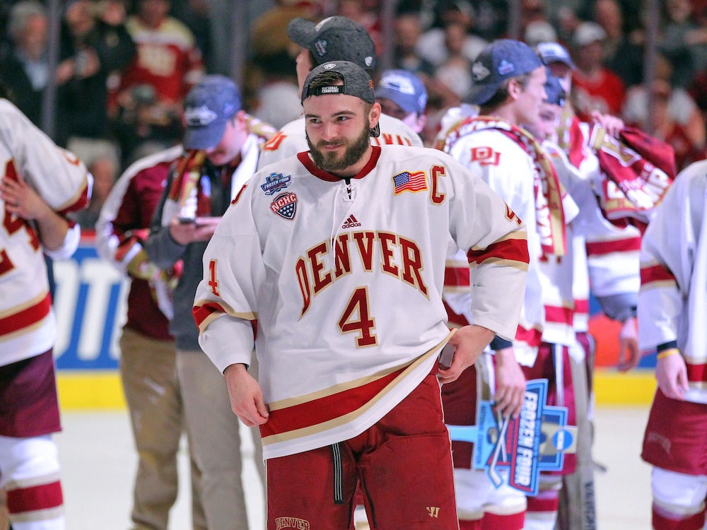 The Colorado Avalanche might not signing Will Butcher, college hockey's reigning national player of the year. (Dennis Wierzbicki/USA Today Sports)