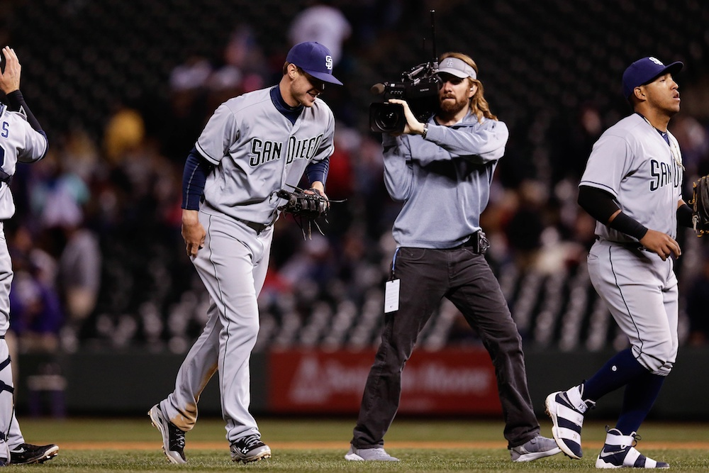 Wil Myers hit for the cycle in San Diego's 5-3 win over Colorado on Monday night. (Isaiah J. Downing/USA Today Sports)