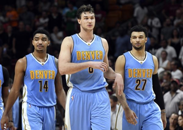 Danilo Gallinari led the Nuggets to a much-needed win over the Heat. (Steve Mitchell/USA Today Sports)