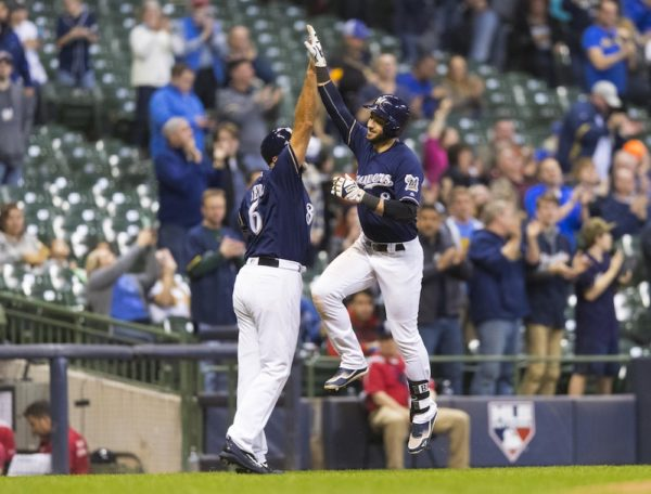Ryan Braun and the Brewers got their first win of the season Wednesday. (Jeff Hanisch/USA Today Sports)