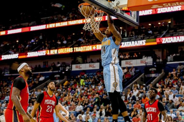 Gary Harris helped the Nuggets stay alive in the playoff race. (Derrick Hingle/USA Today Sports)