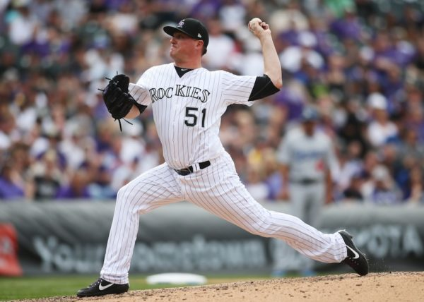 Jake McGee and the Rockies' bullpen has looked great this season. Colorado's bats...have not. (Chris Humphreys/USA Today Sports)