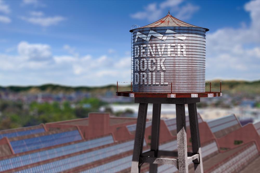 Denver Rock Drill. (Courtesy of Saunders Development)