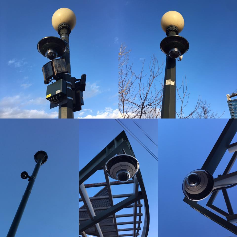 Cameras in Commons Park. (Courtesy Jeremy Jojola, republished with permission)