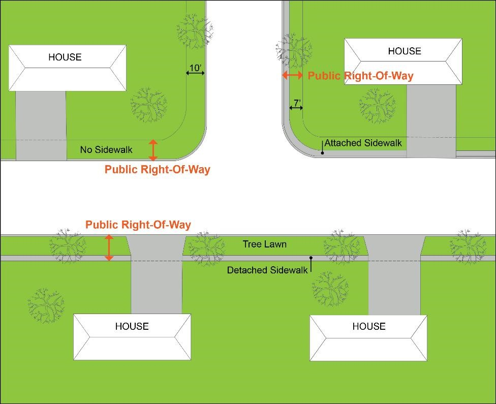 An explanation of the right-of-way in Denver. (City of Denver)