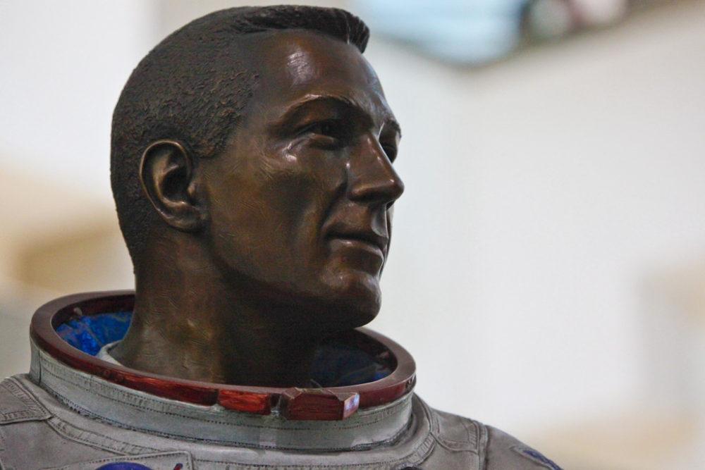 "The bronze statue of John ""Jack"" Swigert at Denver International Airport. (Courtesy Denver International Airport)"
