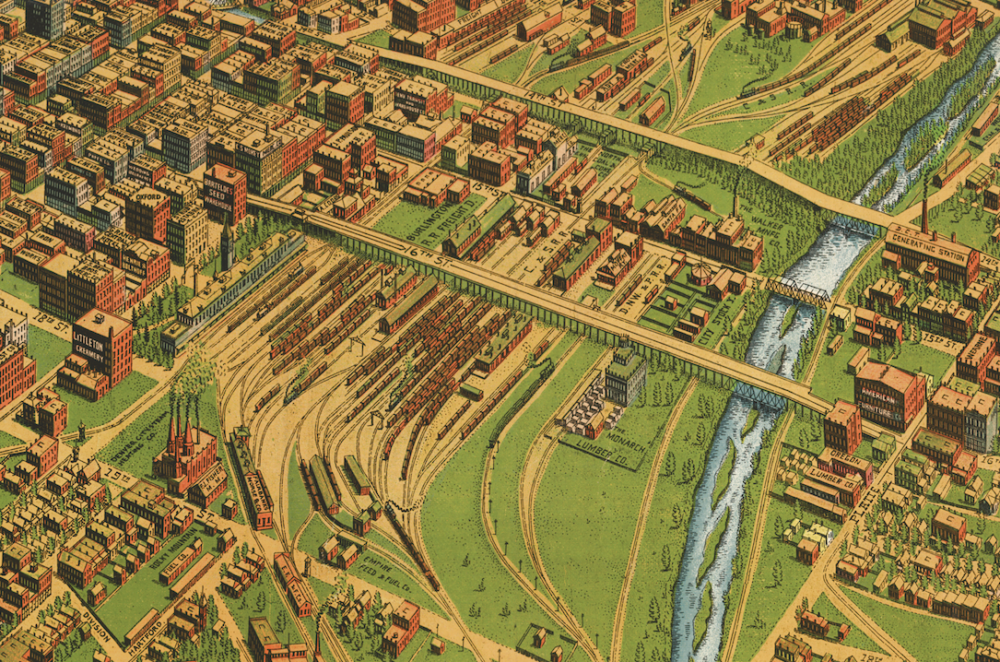 The Union Station area circa 1908. (Library of Congress)