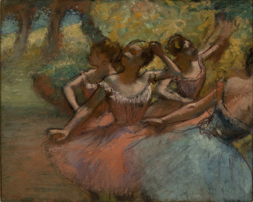 "Edgar Degas, ""Four Ballet Dancers on Stage,"" 1885- 90. (Photo by João Musa.)"