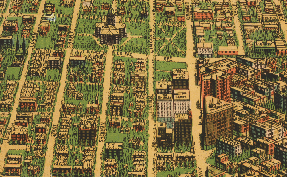 Uptown, 1908. (Library of Congress)