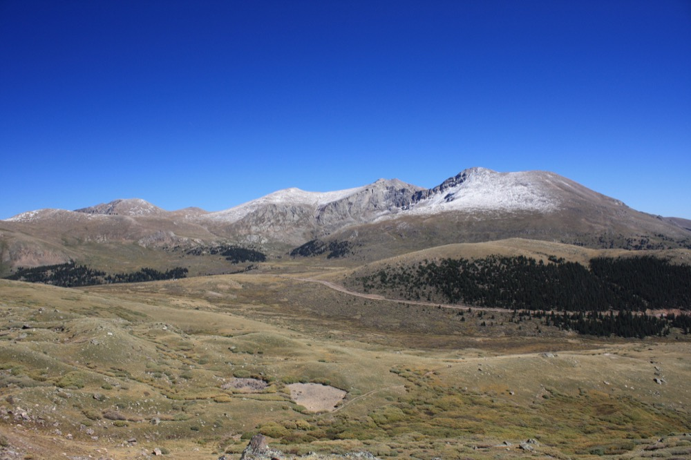 Guanella Pass view of Bierstadt, Sawtooth and Evans. (David Herrera/Flickr)