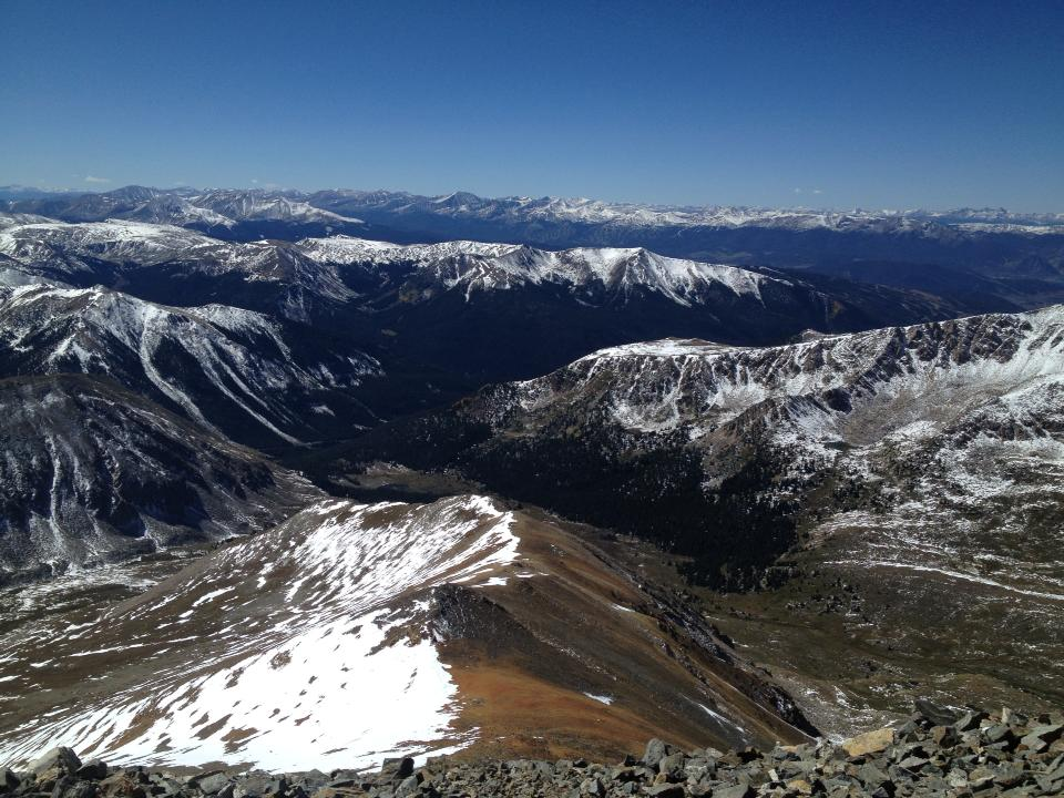 The view from Grays Peak. (Ashley Dean/Denverite)