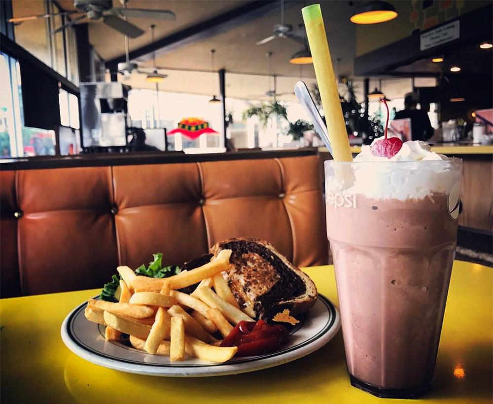 A chocolate milkshake at Tom's Diner on E. Colfax Ave. (Ashley Dean/Denverite)  food; milkshake; dessert; diner; colfax; capitol hill; denverite; denver; colorado; ashley dean;
