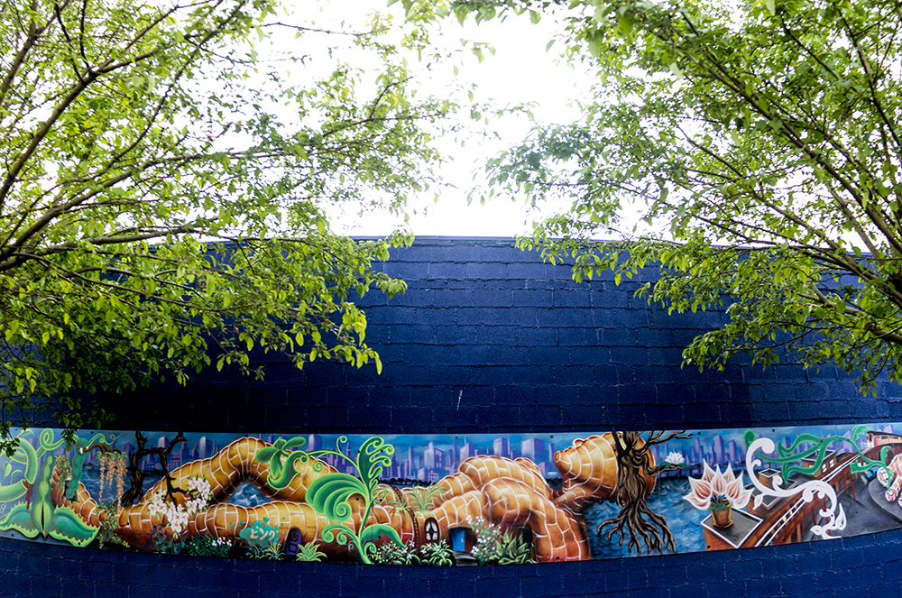 A mural on the side of Rodriguez Auto Repair in Westwood. (Kevin J. Beaty/Denverite)  denver; colorado; graffiti; mural; street art; kevinjbeaty; denverite;