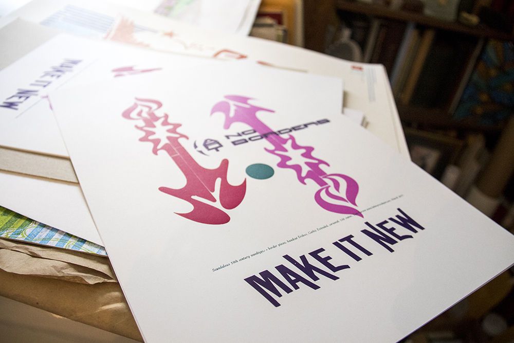"""MAKE IT NEW,"" Tom Parson's catchphrase, May 4, 2017. (Kevin J. Beaty/Denverite)