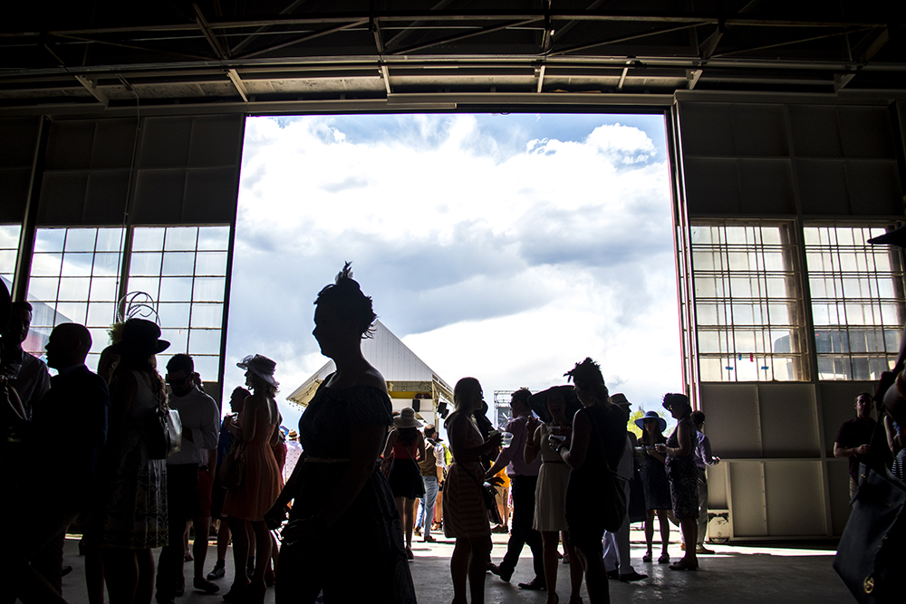 A Kentucky Derby party at Stanley Marketplace, May 6, 2017. (Kevin J. Beaty/Denverite)  stanley marketplace; kentucky derby; aurora; kevinjbeaty; denverite; colorado;
