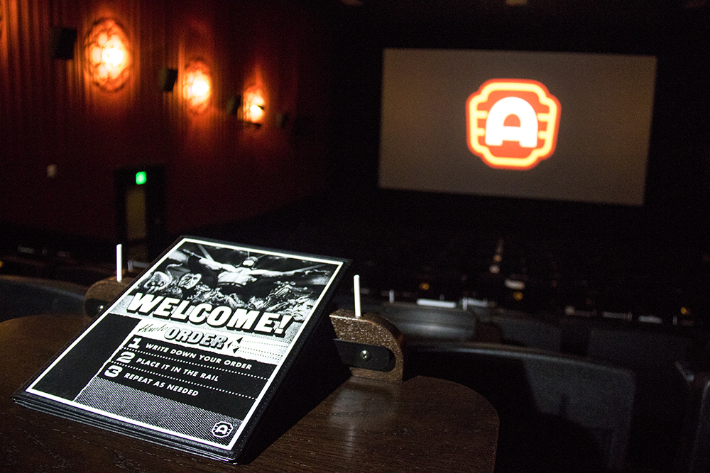 """How to order."" Media day at the new Alamo Drafthouse on West Colfax, May 8, 2017. (Kevin J. Beaty/Denverite)  Alamo Drafthouse; food; nightlife; movie theater; cinema; sloans lake; west colfax; kevinjbeaty; denver; colorado; denverite;"
