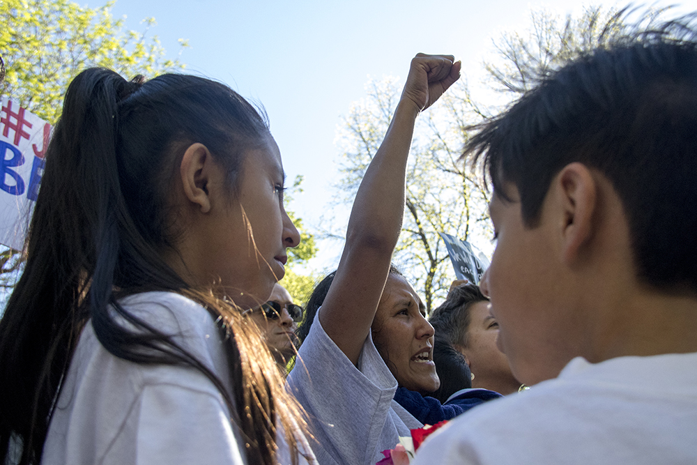 Jeanette Vizguerra leaves sanctuary, May 12, 2017. (Kevin J. Beaty/Denverite)  immigration; denverite; jeanette vizguerra; deportation; kevinjbeaty; undocumented; denver; colorado;