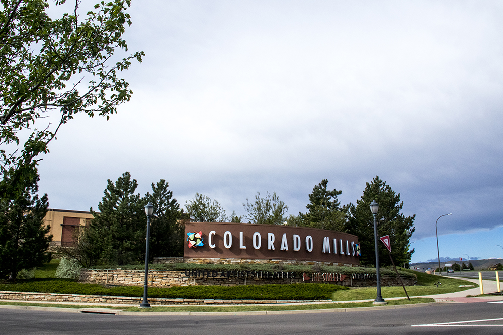 Colorado Mills, closed due to severe weather damage, May 17, 2017. (Kevin J. Beaty/Denverite)  colorado mills mall; hail damage; lakewood; denver; colorado; kevinjbeaty; denverite;
